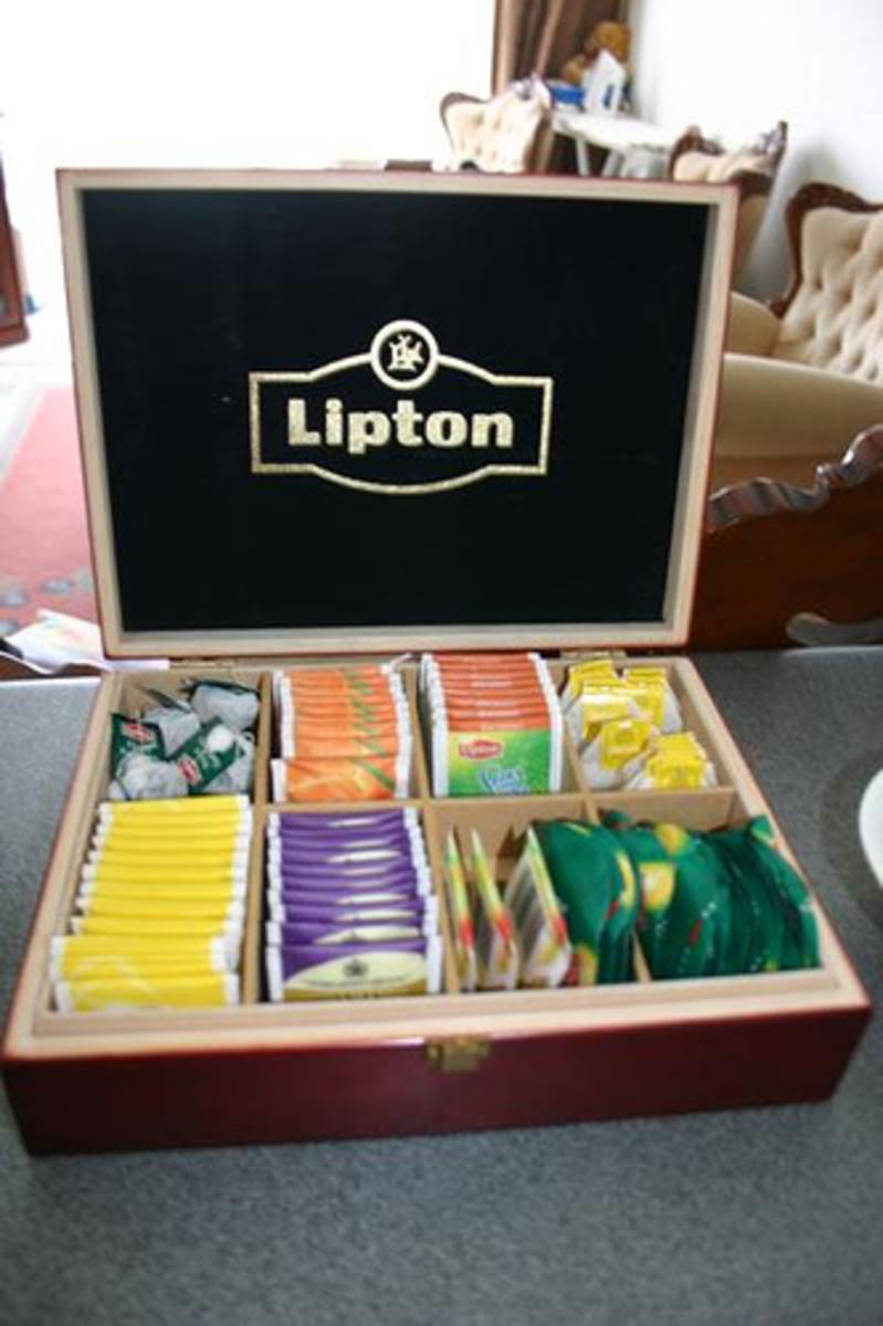 A whole plethora of Lipton Tea flavors!