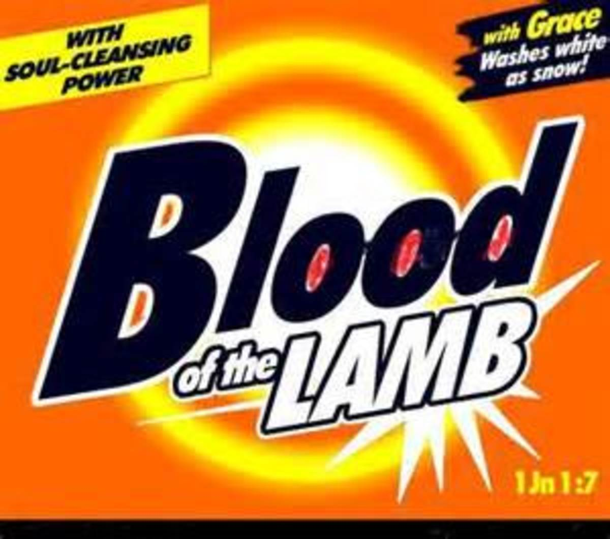 The cleansing agent is the blood of the Lamb.