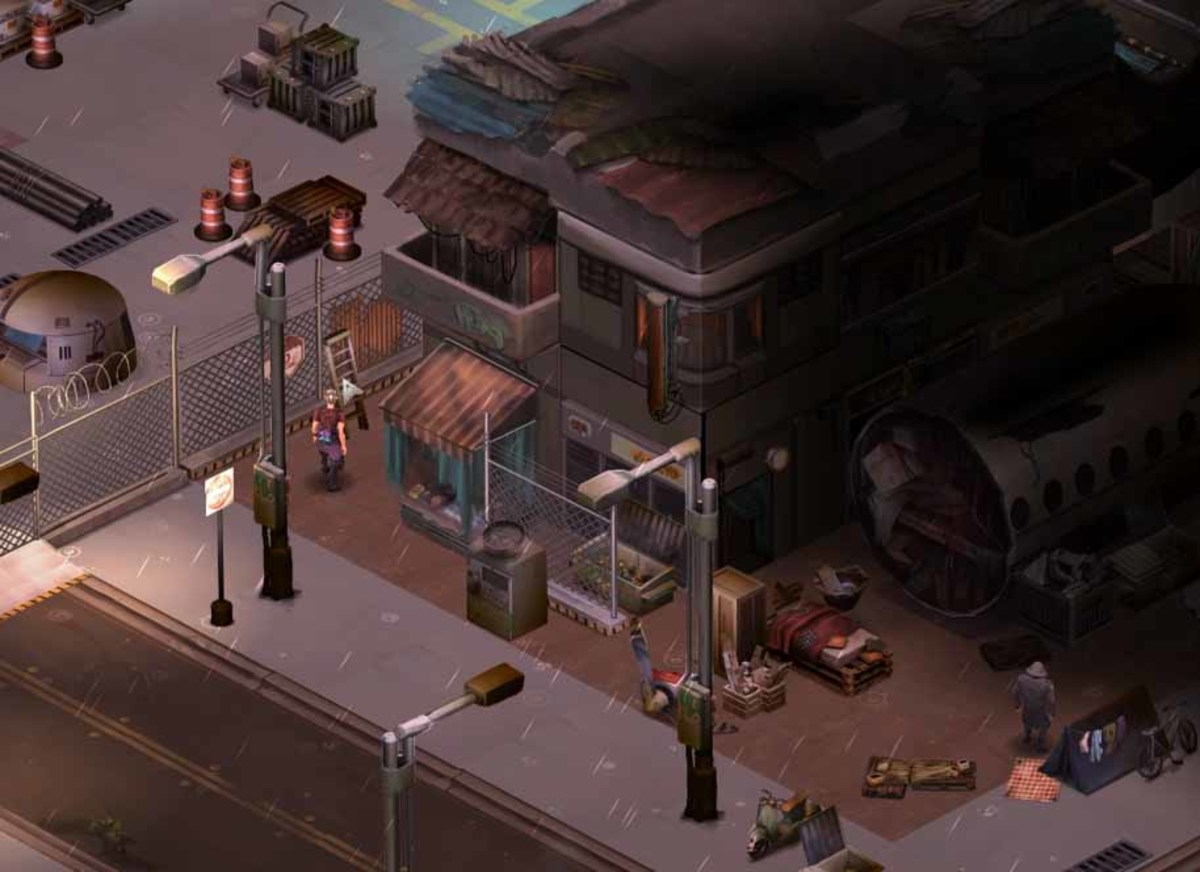 Shadowrun Returns get to the NTSB Warehouse using the ladder.