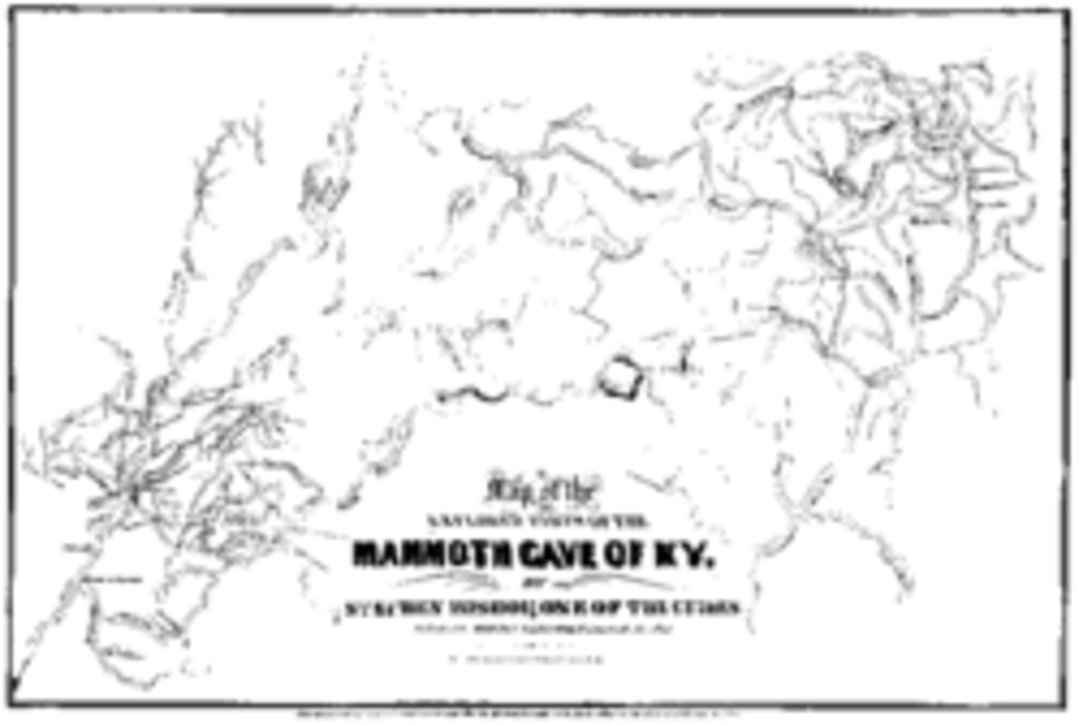 Mammoth Cave Map, drawn by Stephen Bishop in 1842, is still referred to today by guides and scholars.