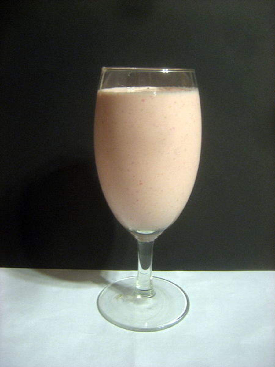 Banana Strawberry Protein Shake