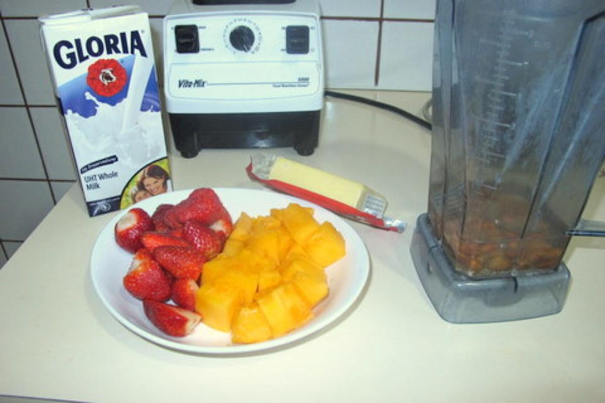 Assemble smoothie ingredients