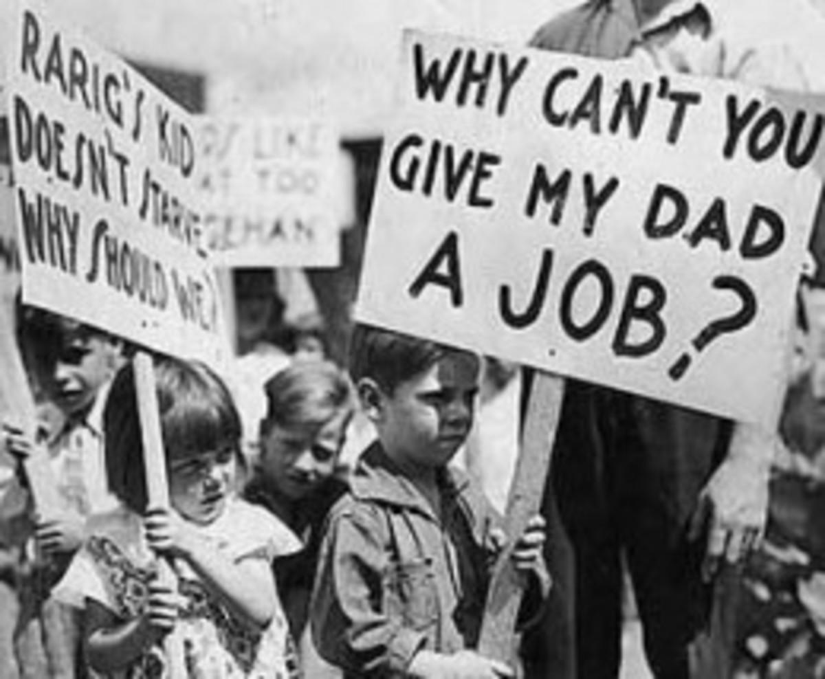 protest against great depression