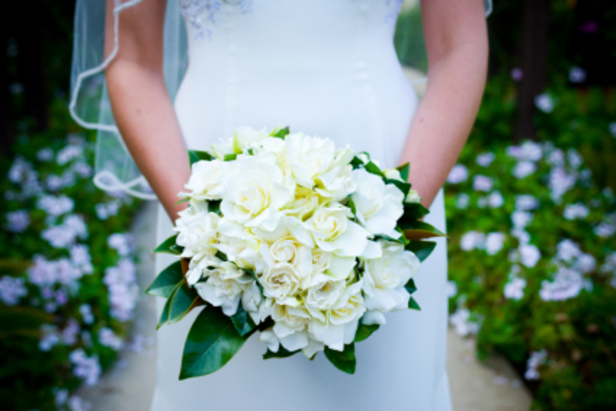 Gardenia is used many times in bridal bouquets as it was in mine.