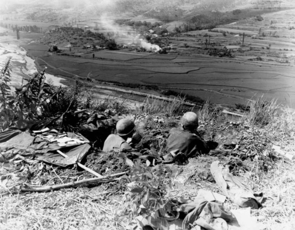 American troops holding on inside the Pusan Perimeter, summer 1950.