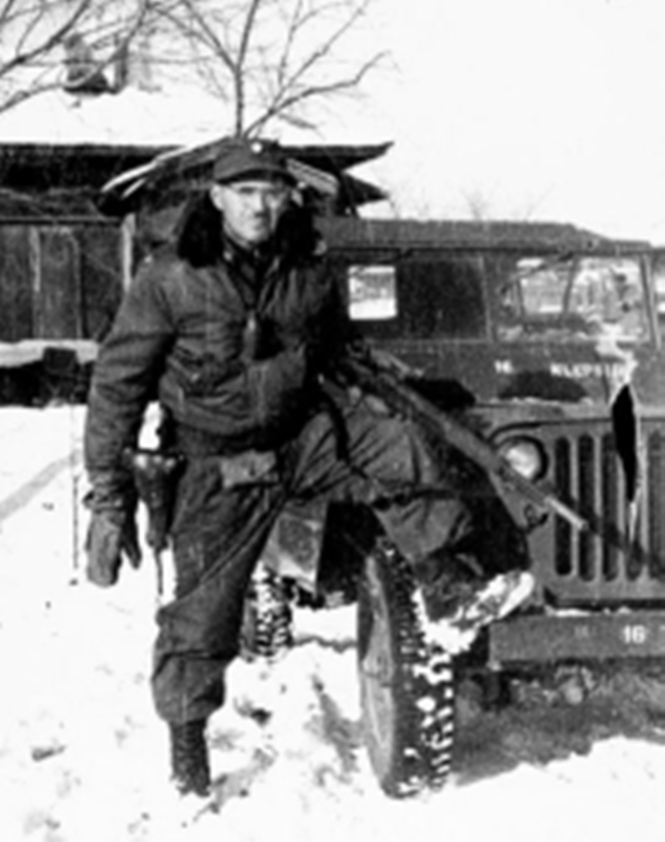 Lt. Colonel Page in Korea - The face of a determined man.
