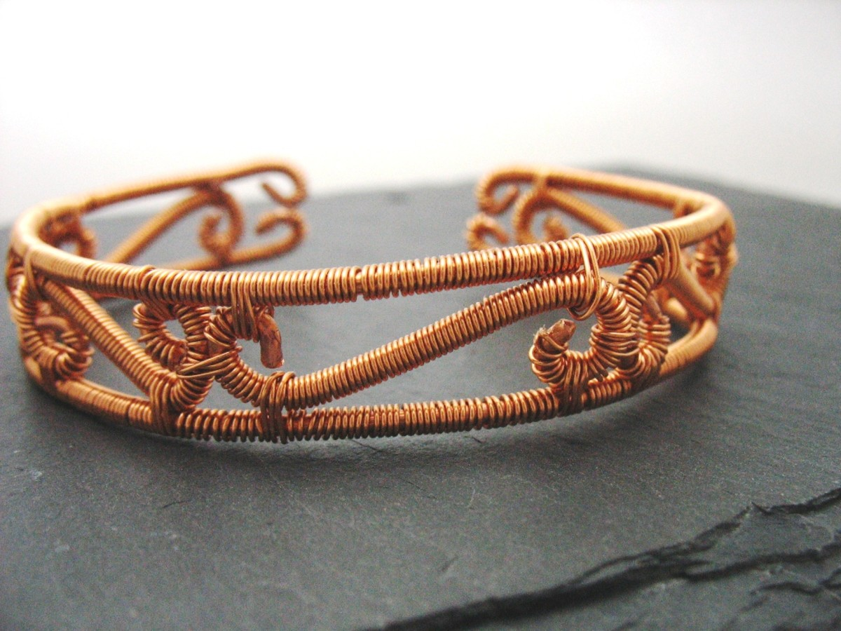 Bracelet Made From Copper Wire