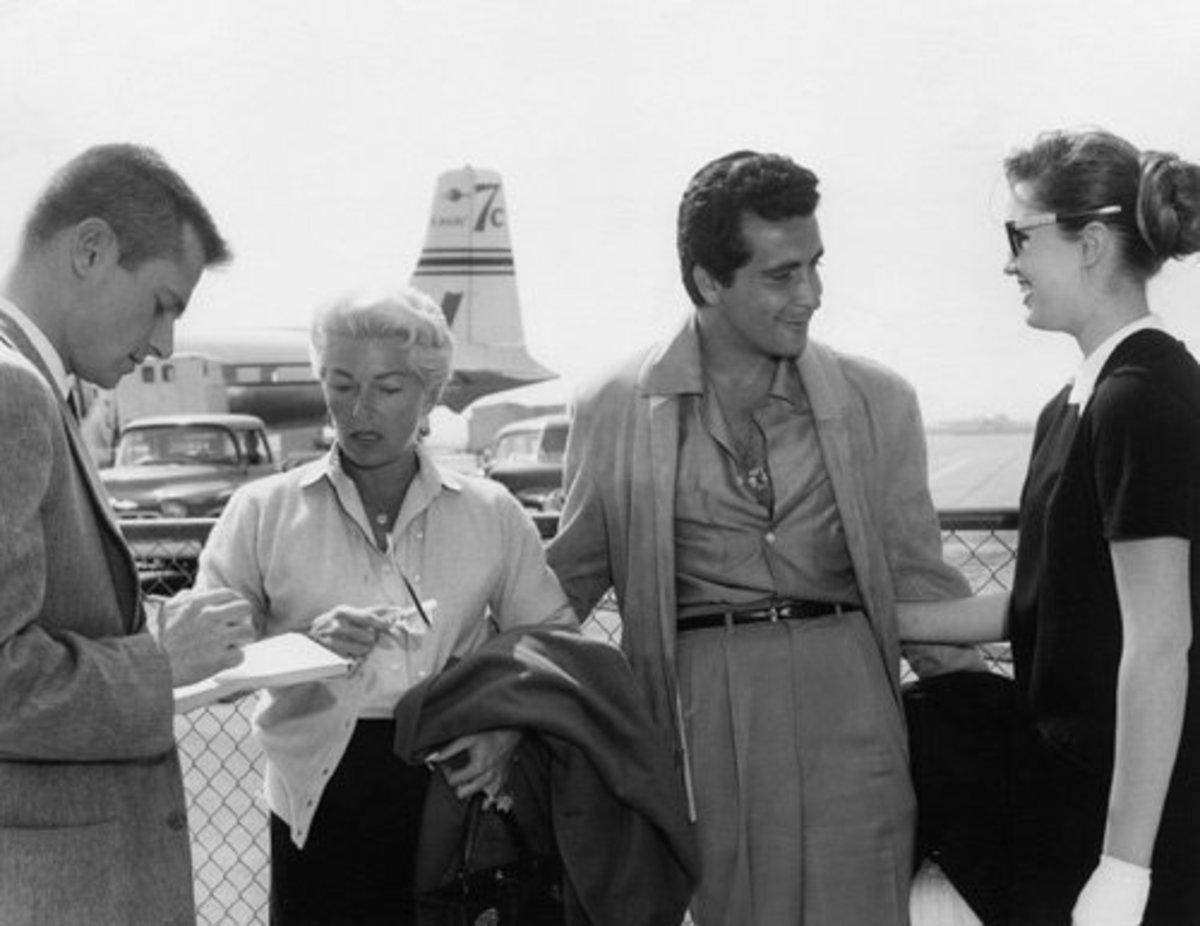 Reporter, Lana, Johnny and Cheryl Crane