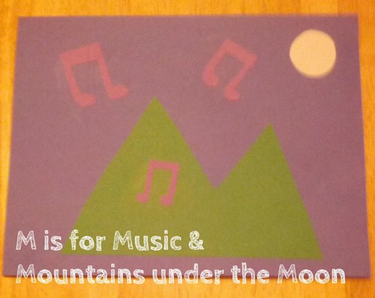 M is for Music and Mountains | Alphabet Activities for Kids