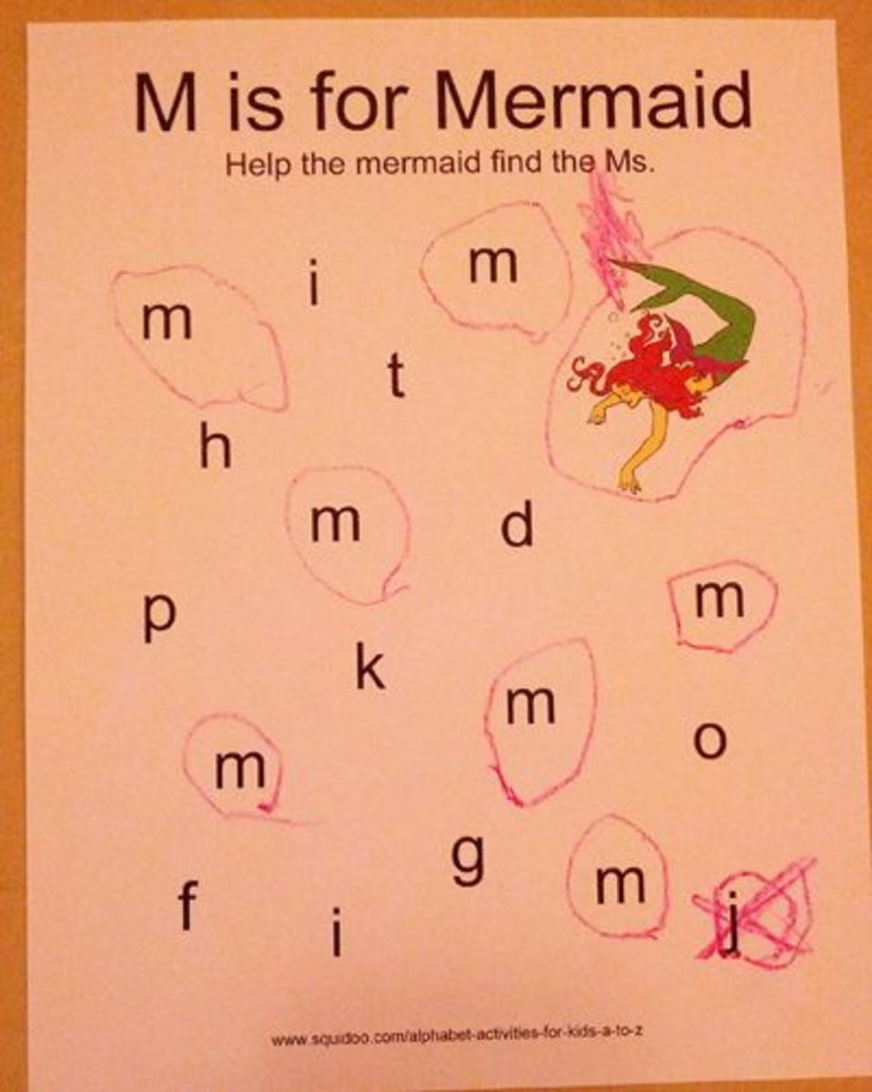 M is for Mermaid | Alphabet Activities for Kids