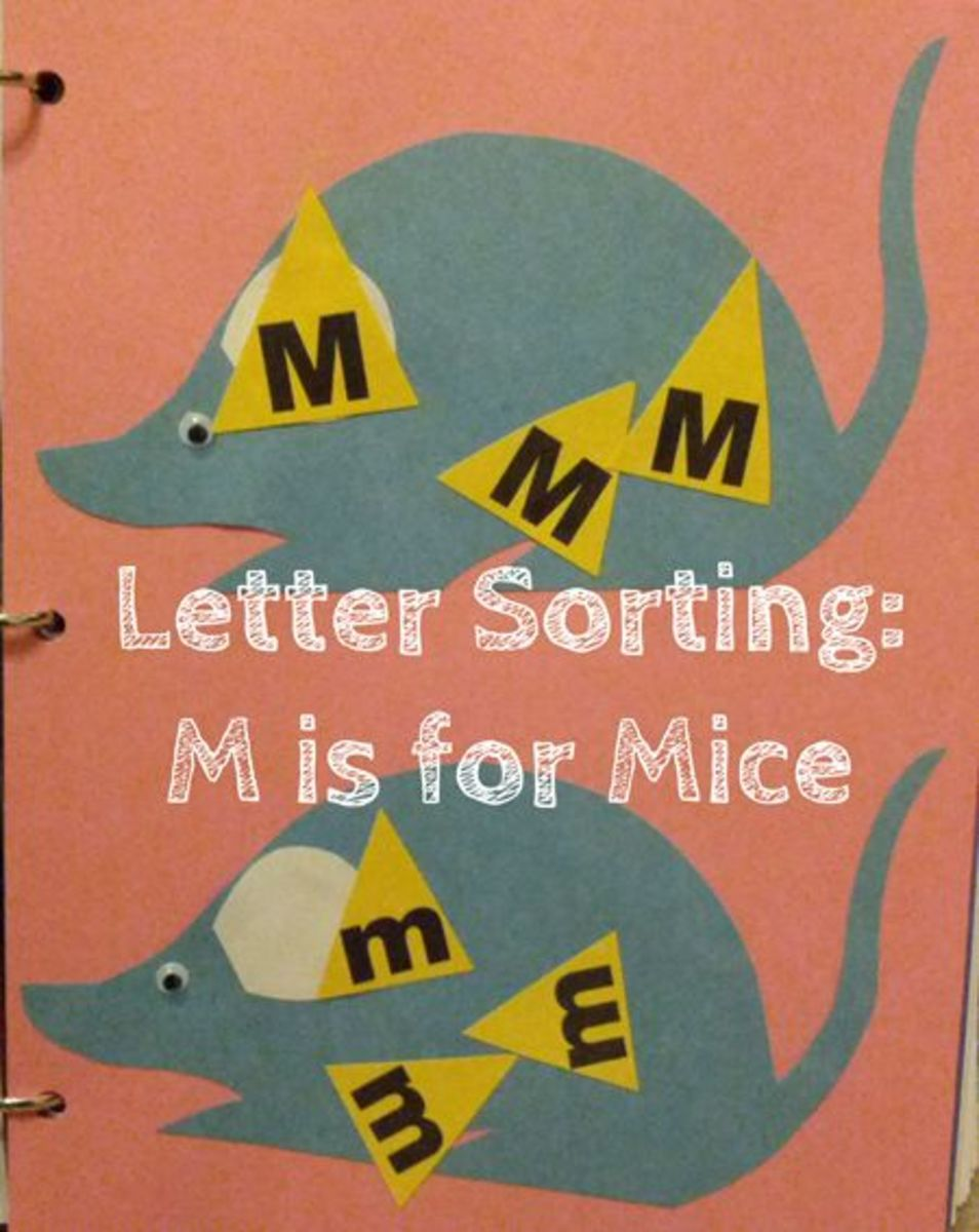 M is for Mice Letter Sorting Activity