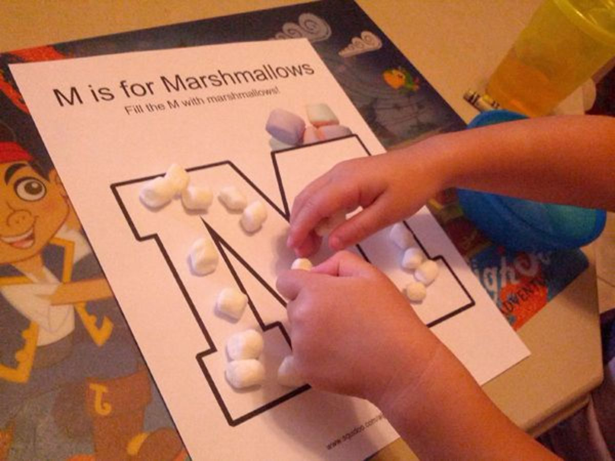 M is for Marshmallows | Alphabet Activities for Kids