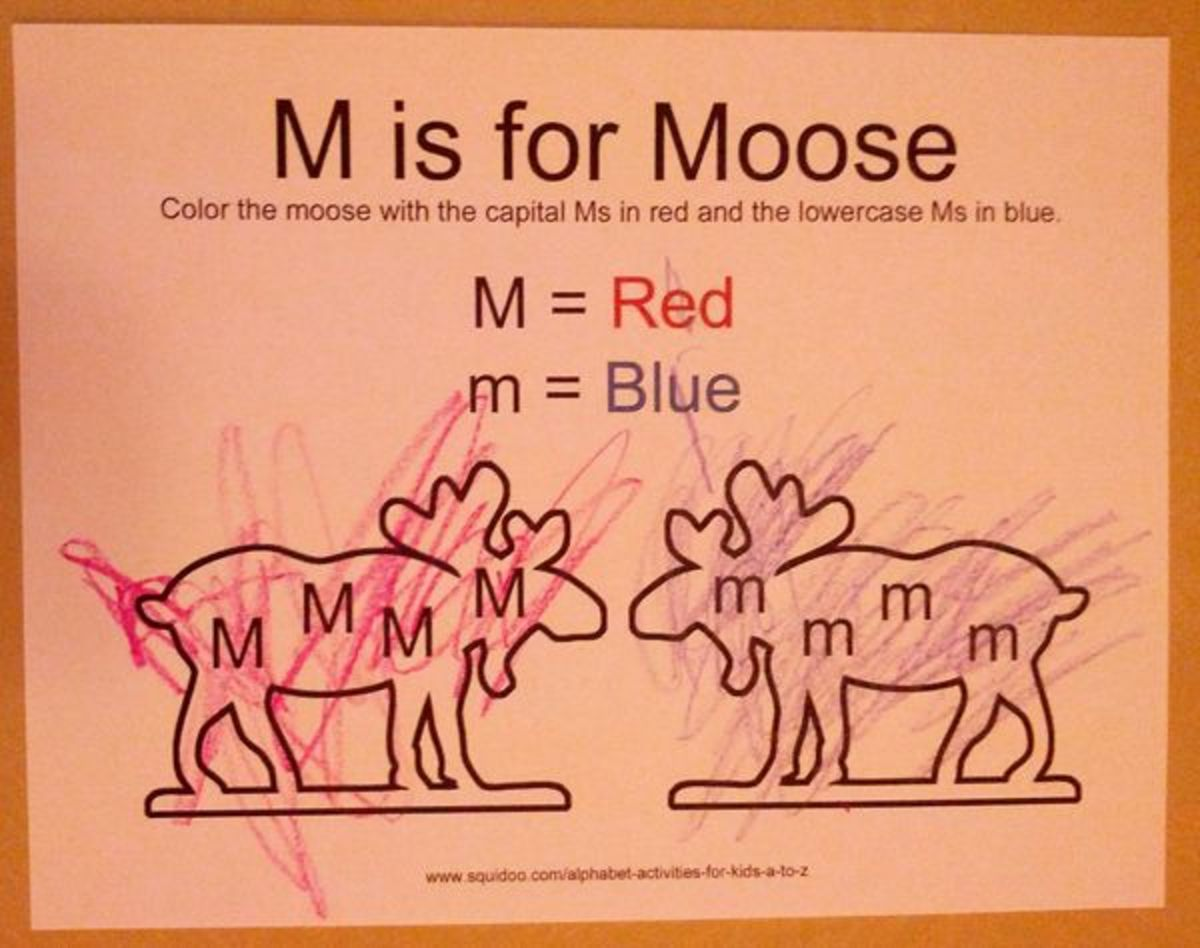 M is for Moose | Alphabet Activities for Kids
