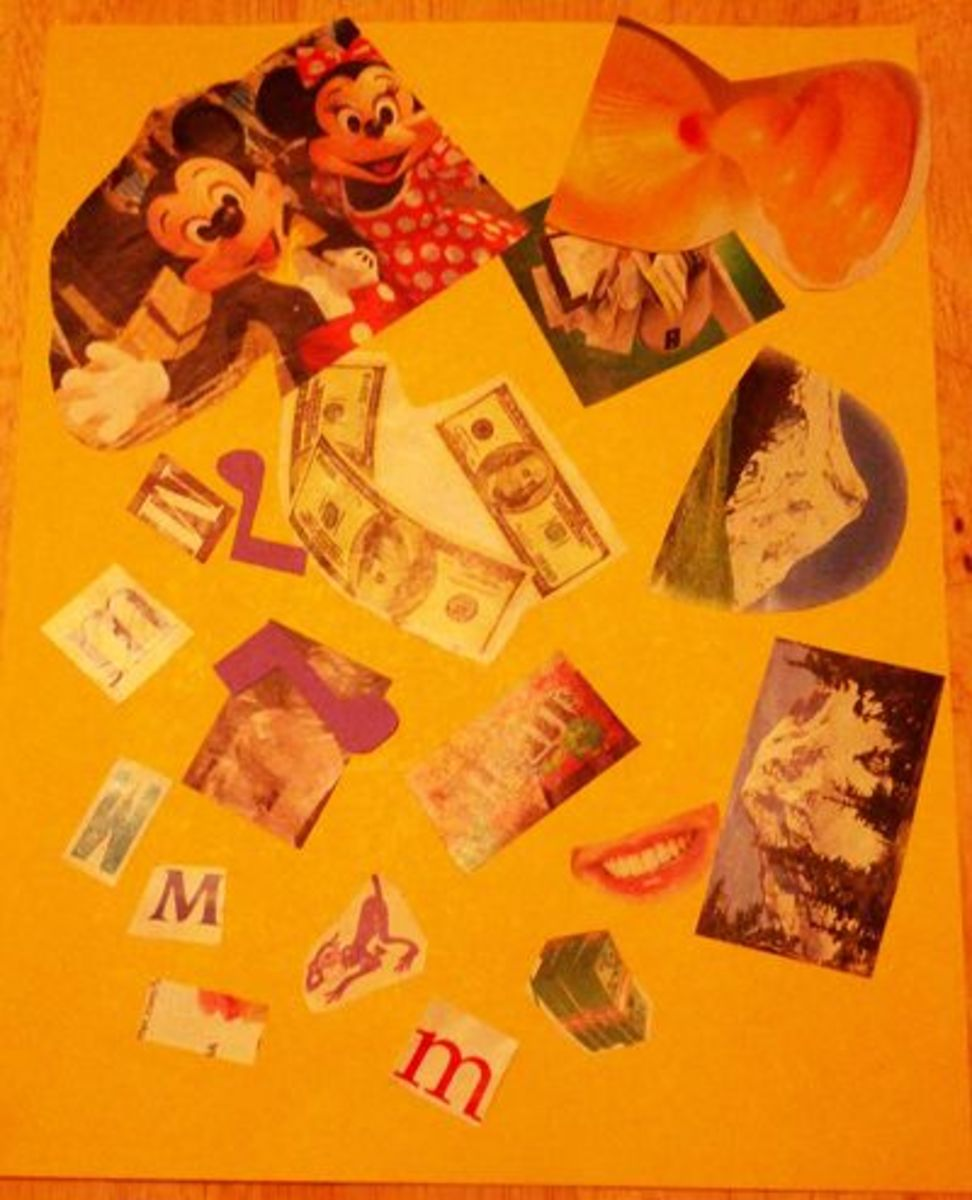 Letter M Collage