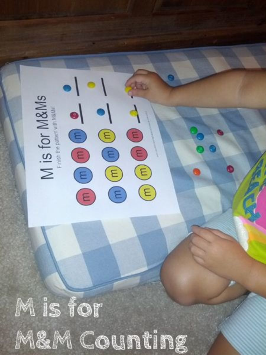 M is for M&M Counting | Alphabet Activities for Kids