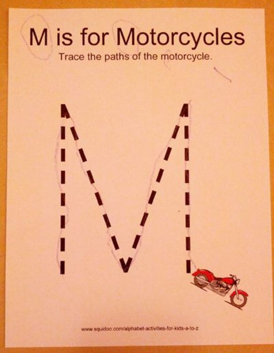 M is for Motorcycle | Alphabet Activities for Kids