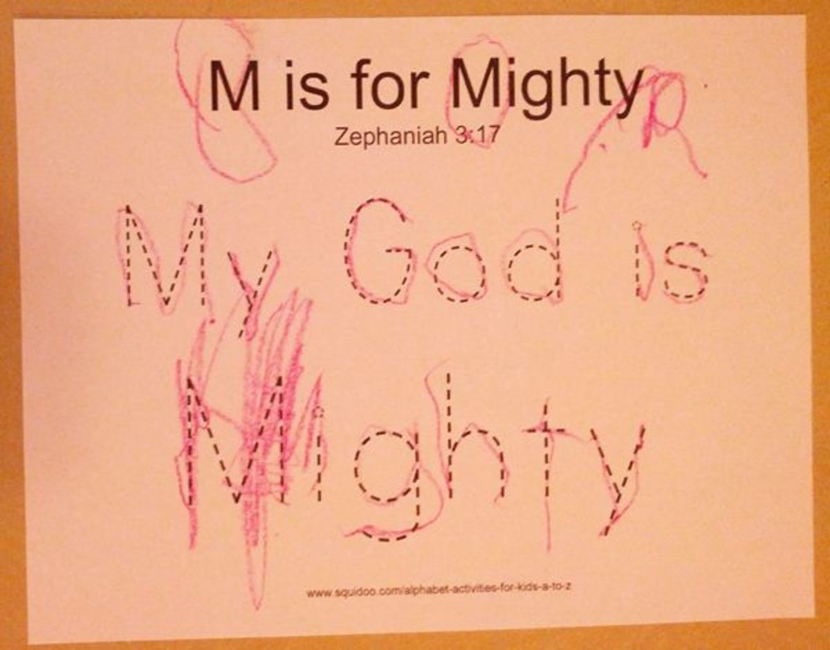 M is for Mighty | Alphabet Activities for Kids
