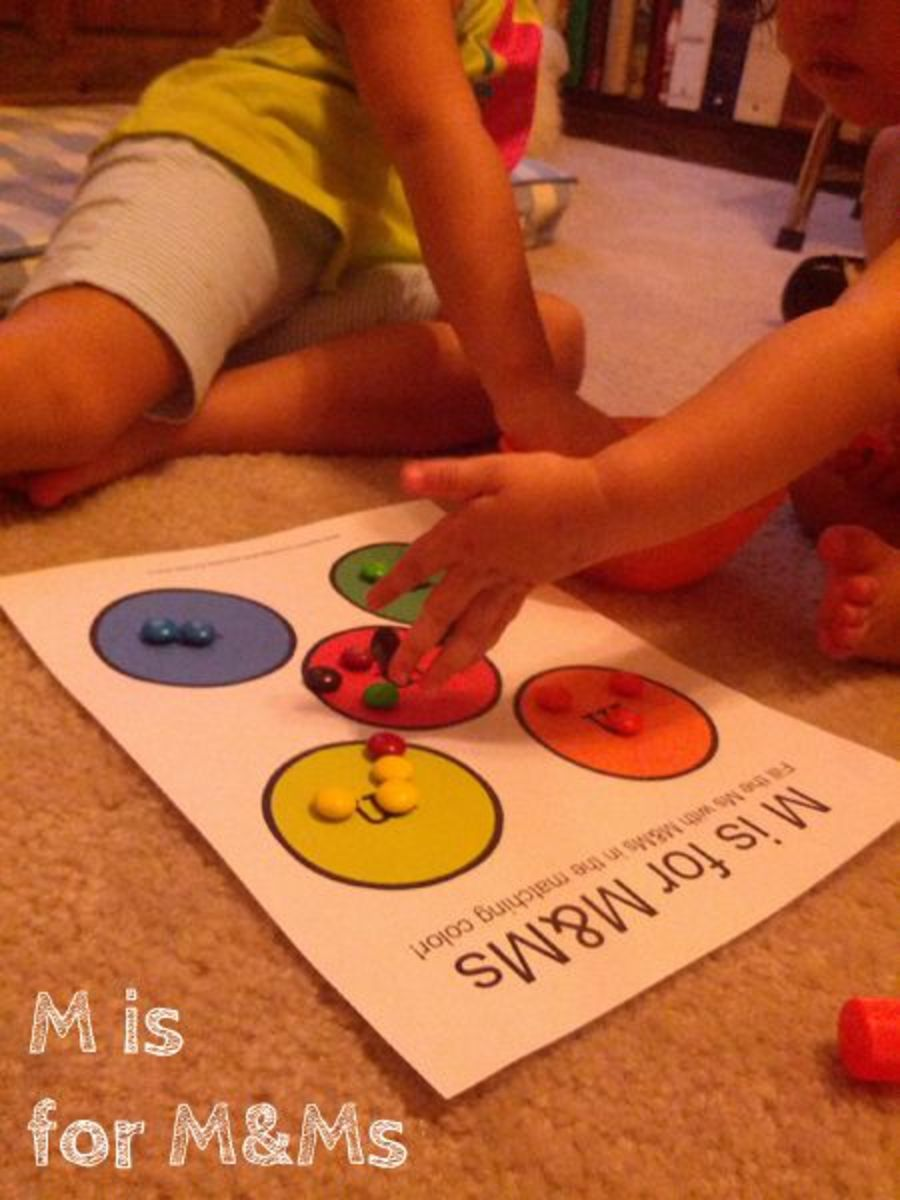 M is for M&Ms | Alphabet Activities for Kids