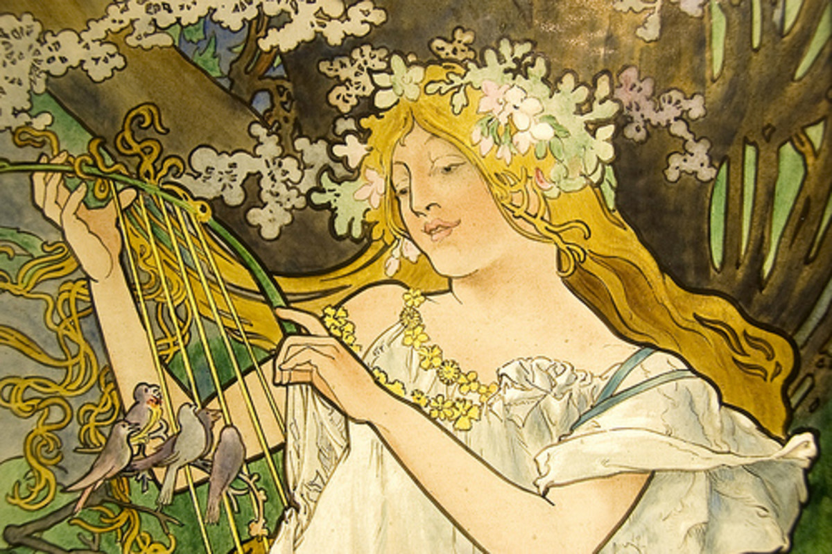 Mucha's Four Seasons - Spring by Russ Matthews,fortunae 2002