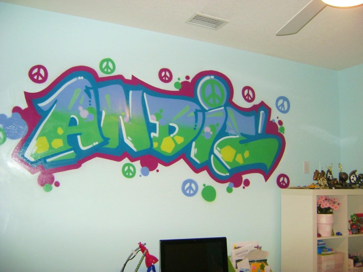Spray paint decoration