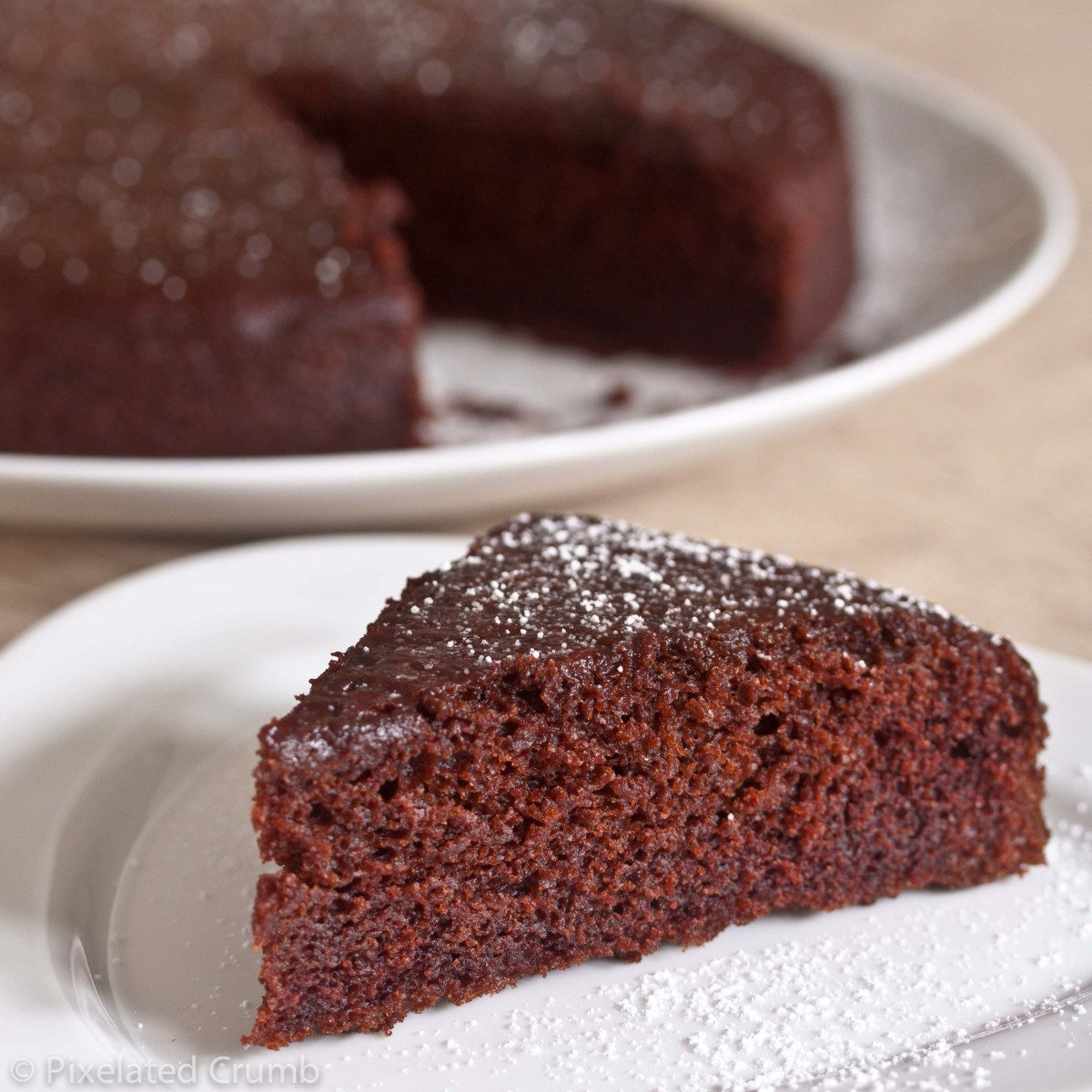 How do you make a delicious chocolate cake? A secret ingredient to make it taste chocolatey not plain.