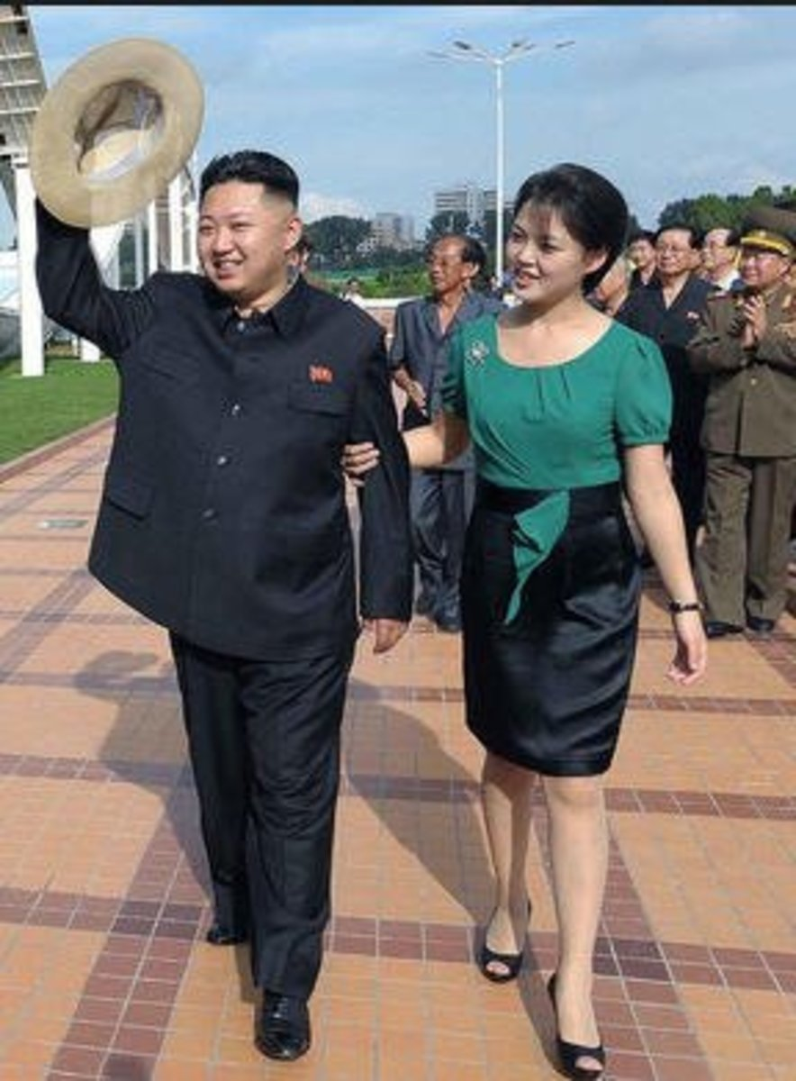 Kim and his wife, Ri