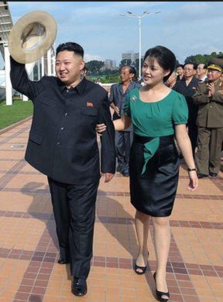 Kim and his wife, Ri