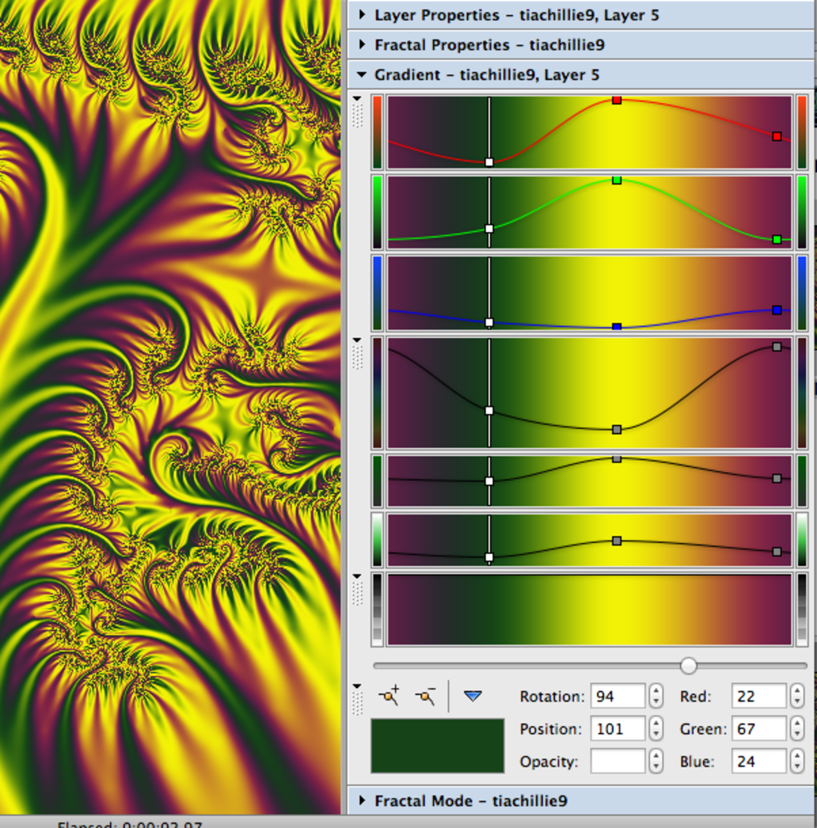 Creating a colour gradient for your fractals is incredibly easy.