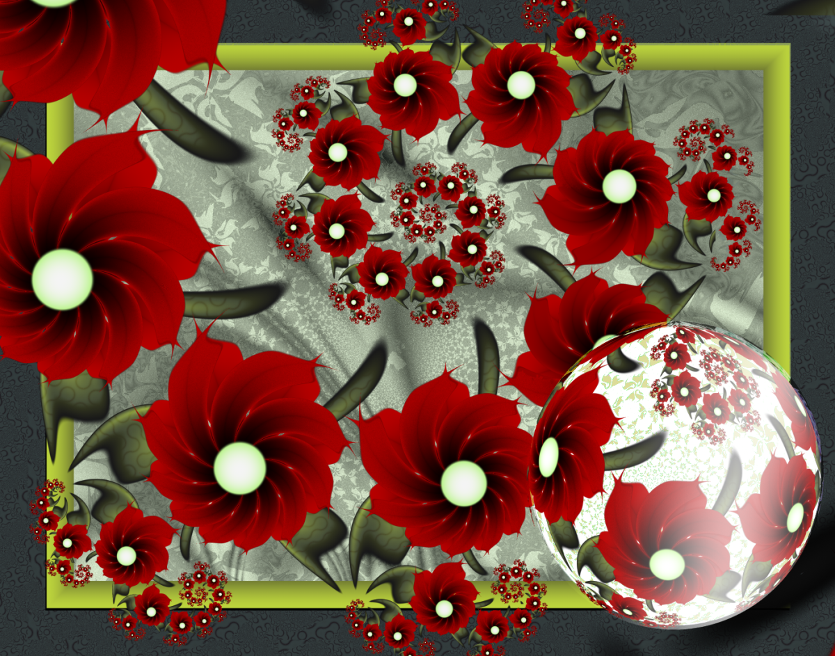 Ultra Fractal allows you to make complex floral compositions.