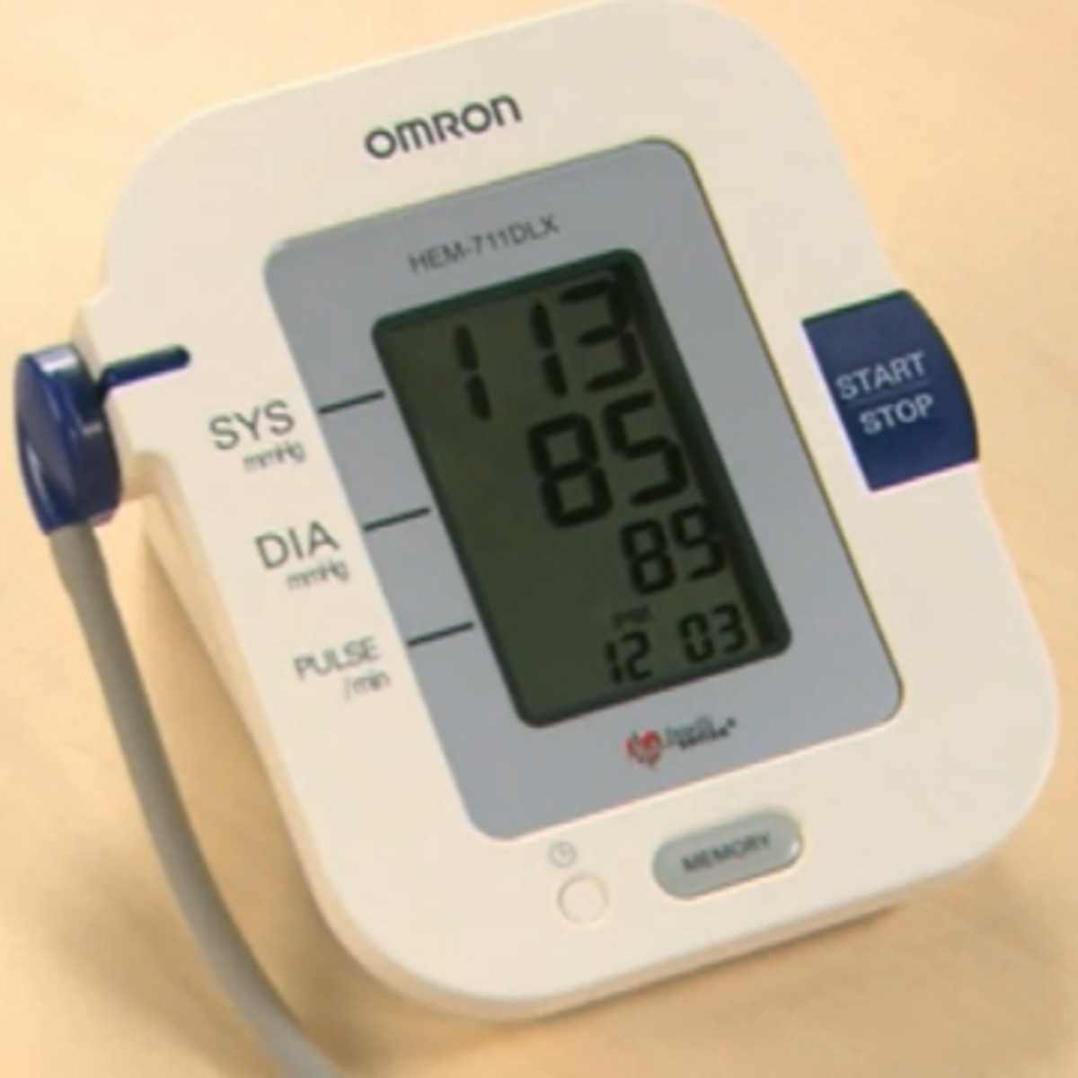This is the display unit of the upper arm blood pressure monitor from Omron that I have provided a link to on the left.
