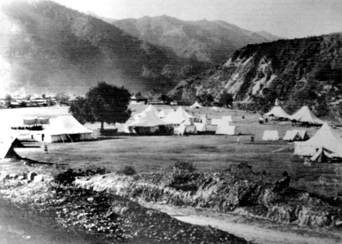 Army Camp of Mandi state in 1920
