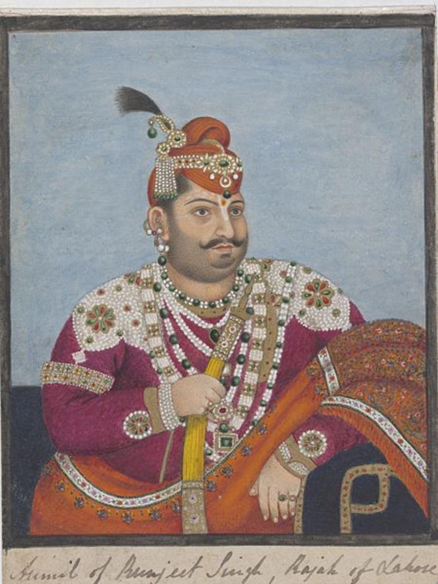 Company painting of king Ishwari Sen (1784-1826),  painting of 1825