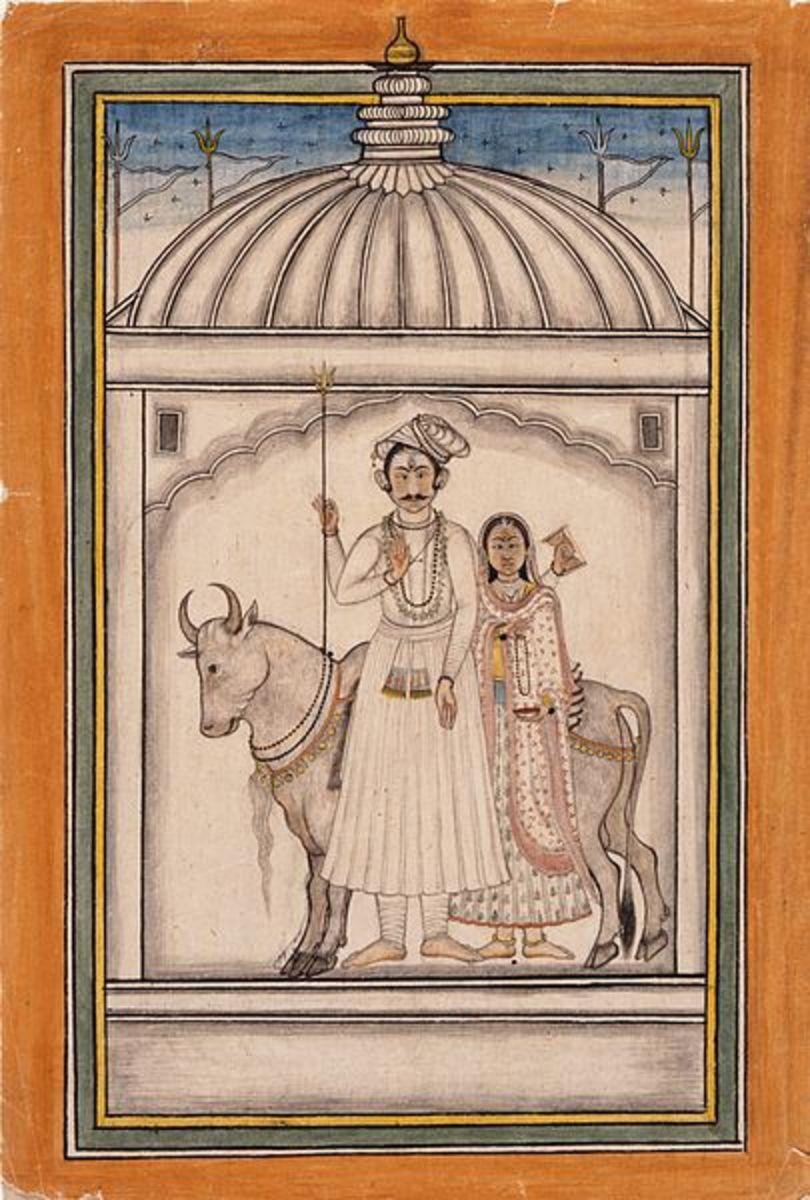 Shiva and Parvati, 18th century
