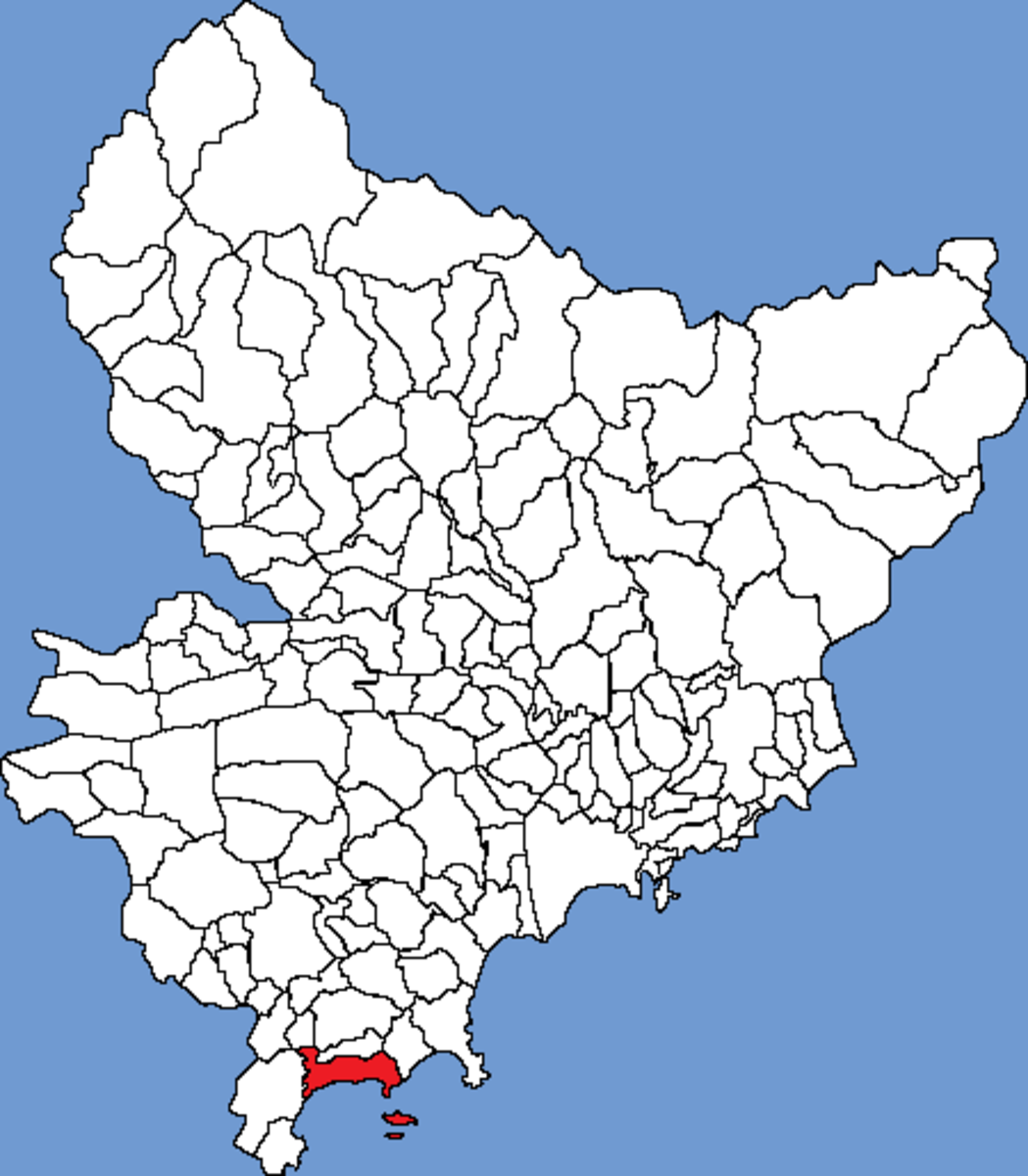Map location of Cannes, Alpes Maritimes