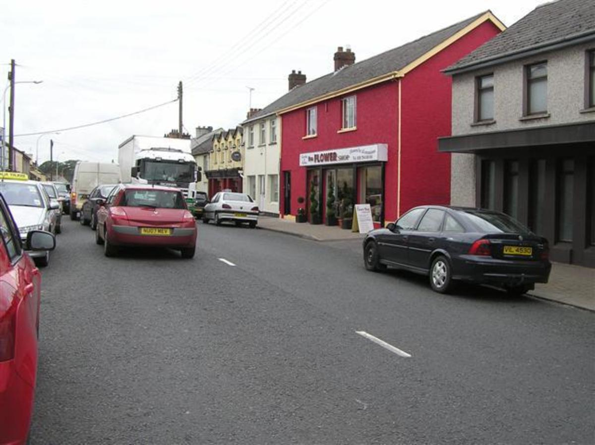 Downtown Castledawson, County Derry, where Heaney was born.
