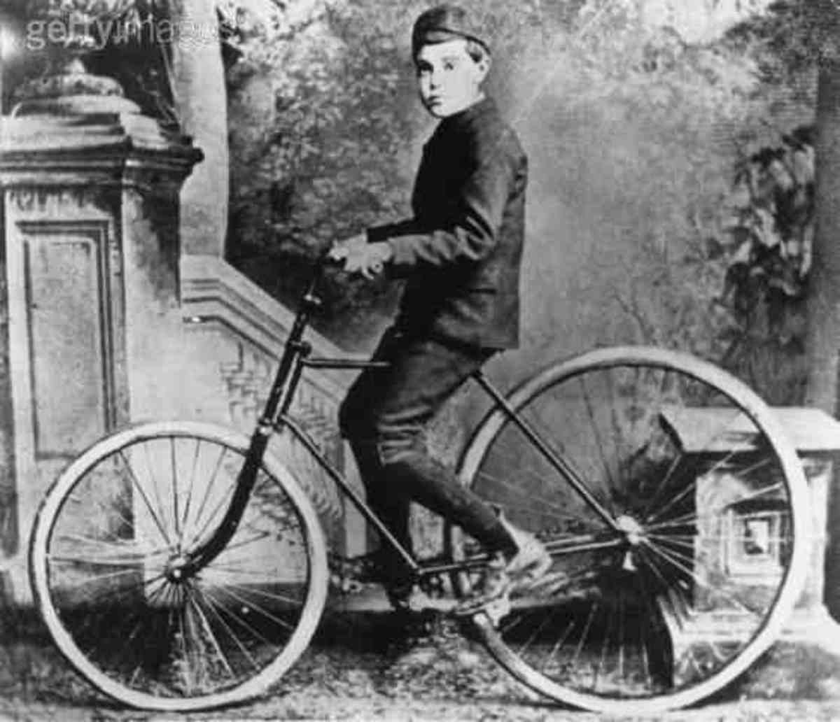 One of the first bikes that were named the velocipede.
