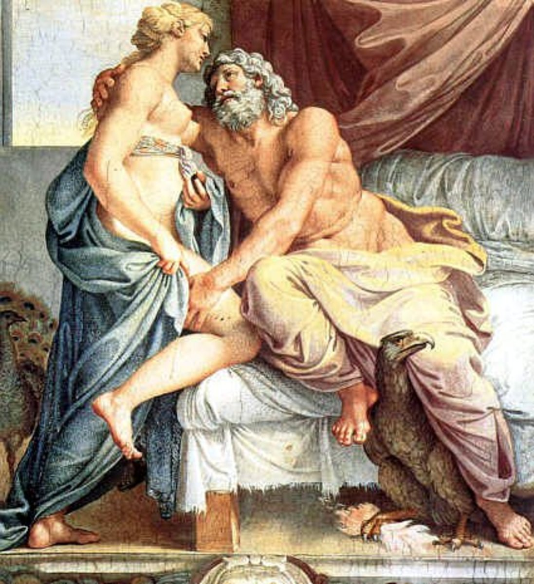 Roman god Jupiter and Junon - Rome seeks to lure Gaul into servitude