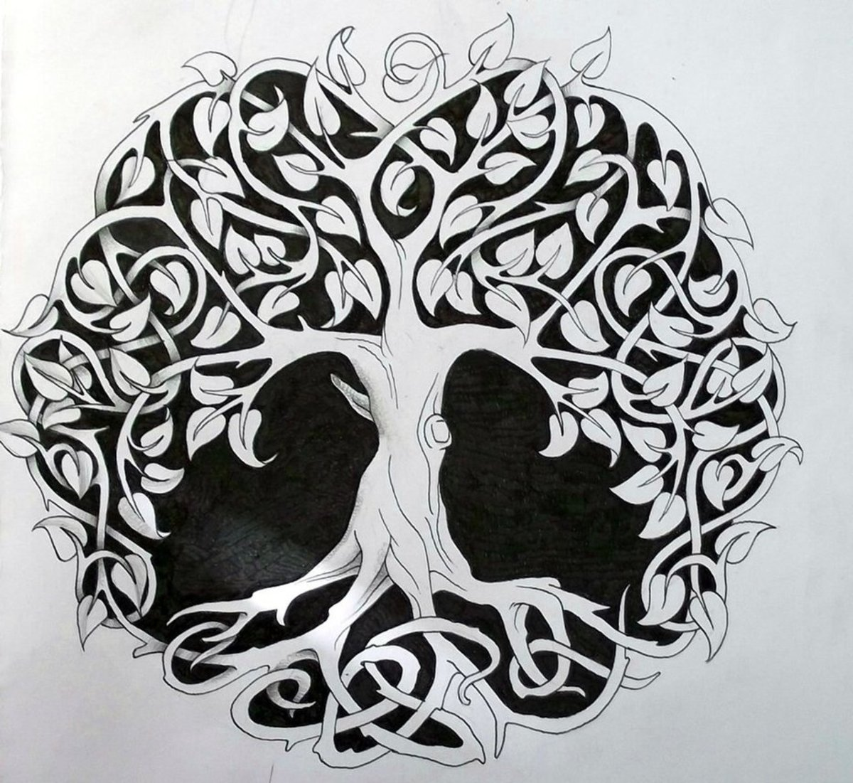 The Celts' Tree of Life - similar to the Norse Yggdrasil, the World Ash Tree. Everything stems from the ground: life, food, tools, dwellings and new life from old.