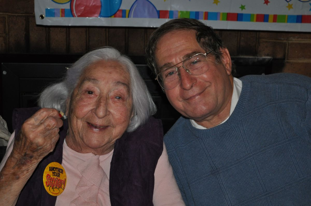 Mom and big brother Mike on her 95th birthday