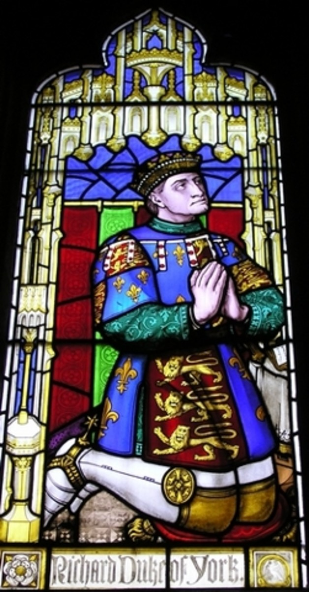 The stain glass window depiction of Richard, Duke of York