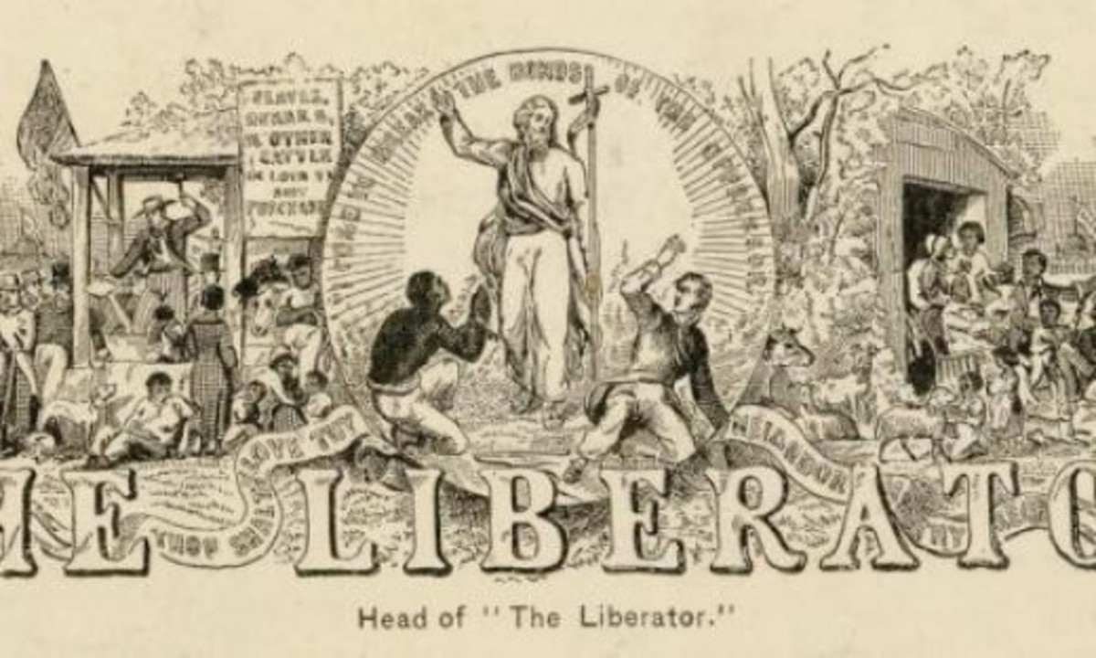 Cartoon - Abolitionist publication called The Liberator