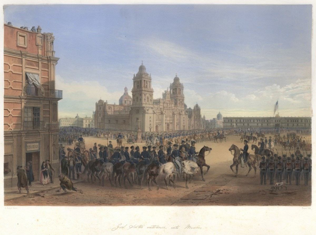 Painting - Winfield Scott enters Mexico City during Mexican War