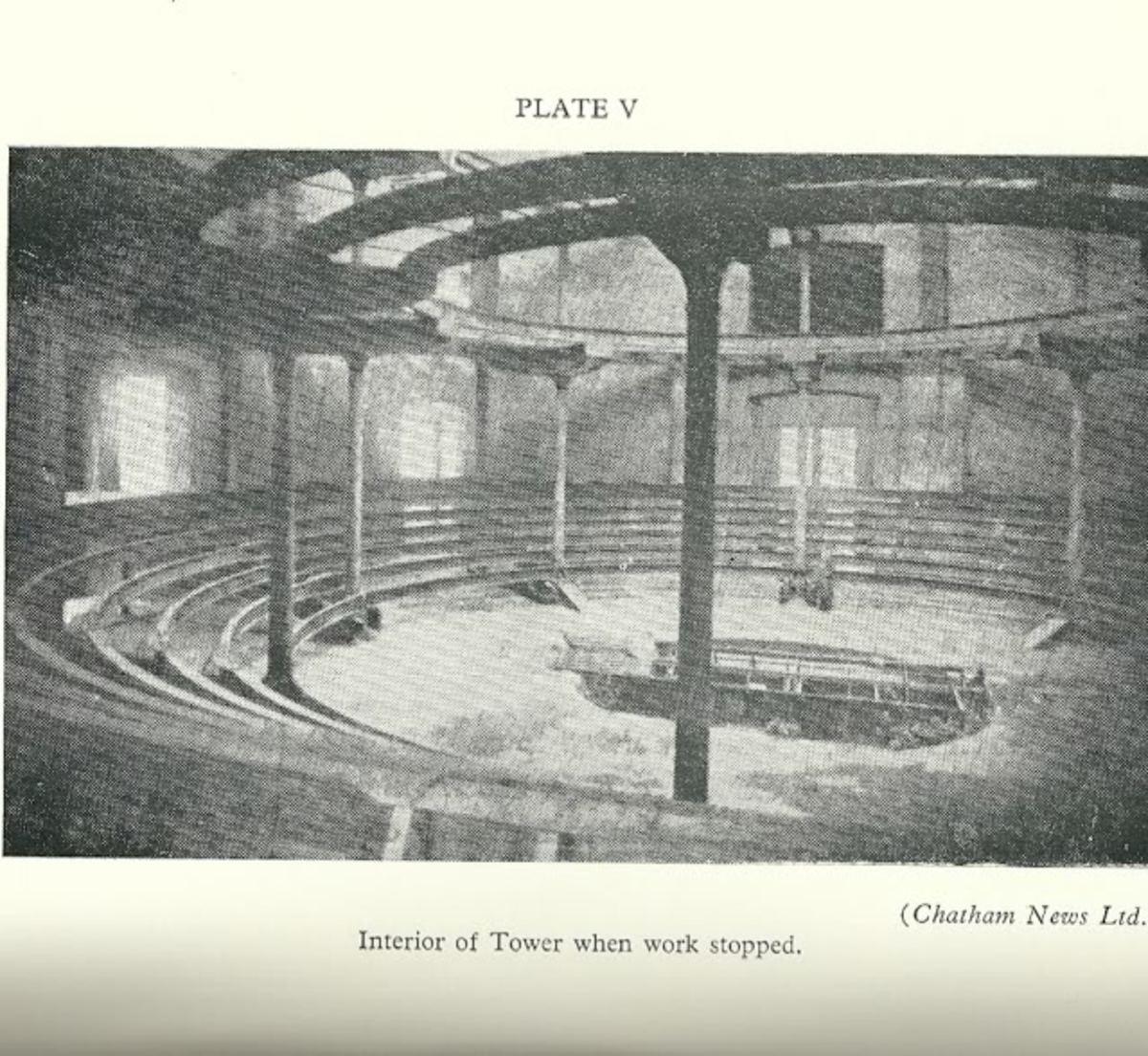 A rare photo of the incomplete amphitheatre