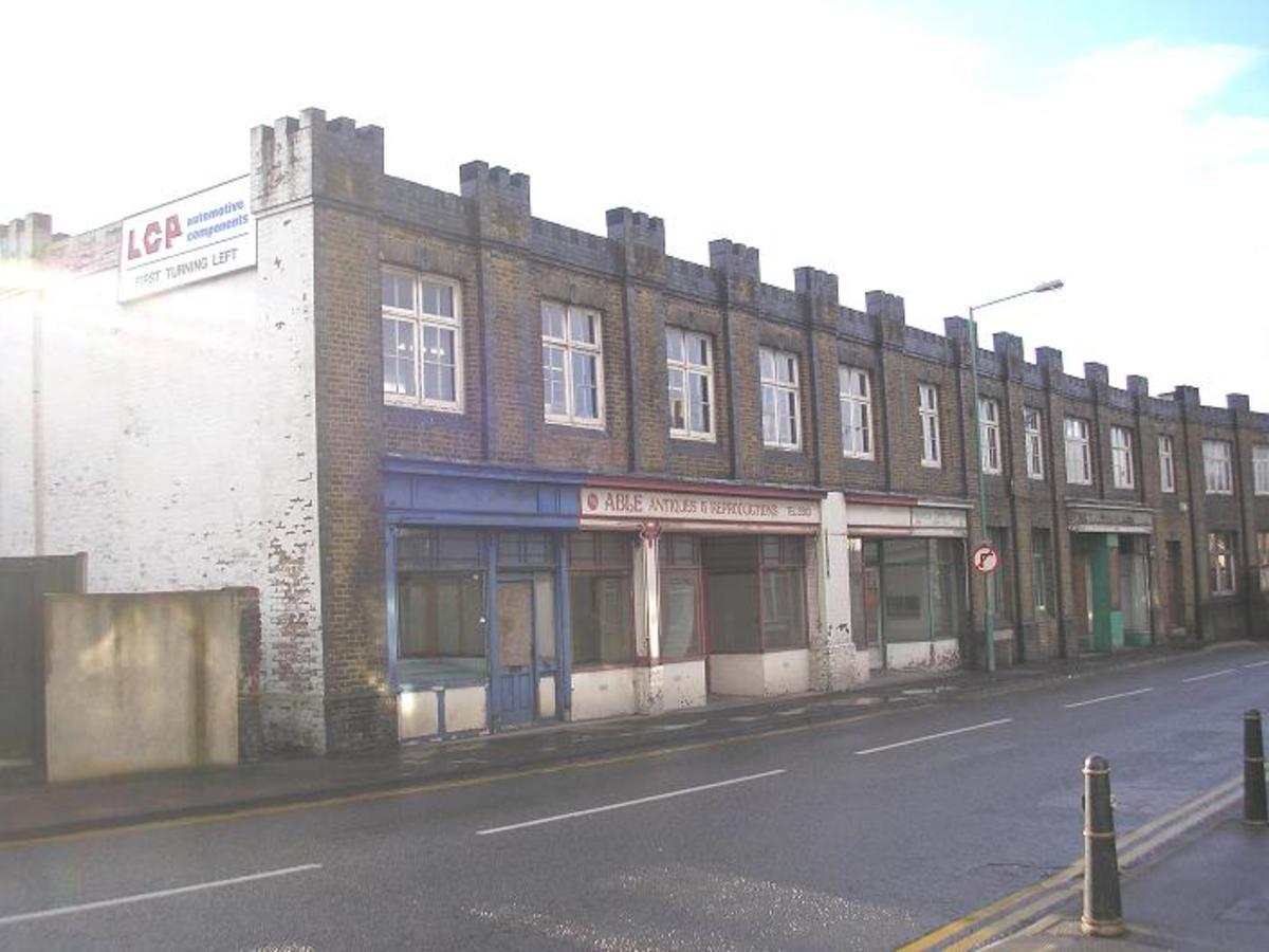 Low level Jezreelite shops just prior to demolition