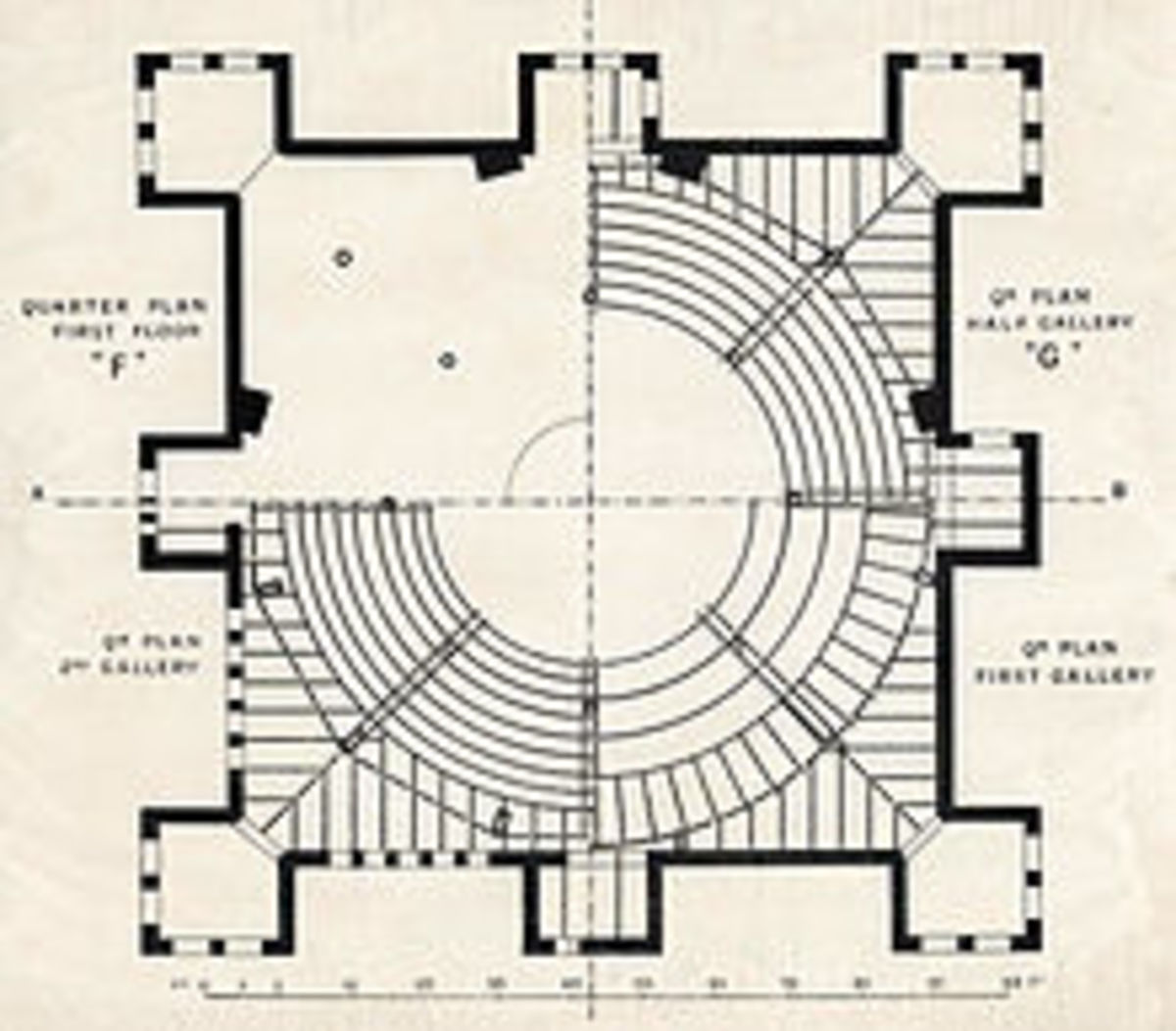 An architects floor plan recently found