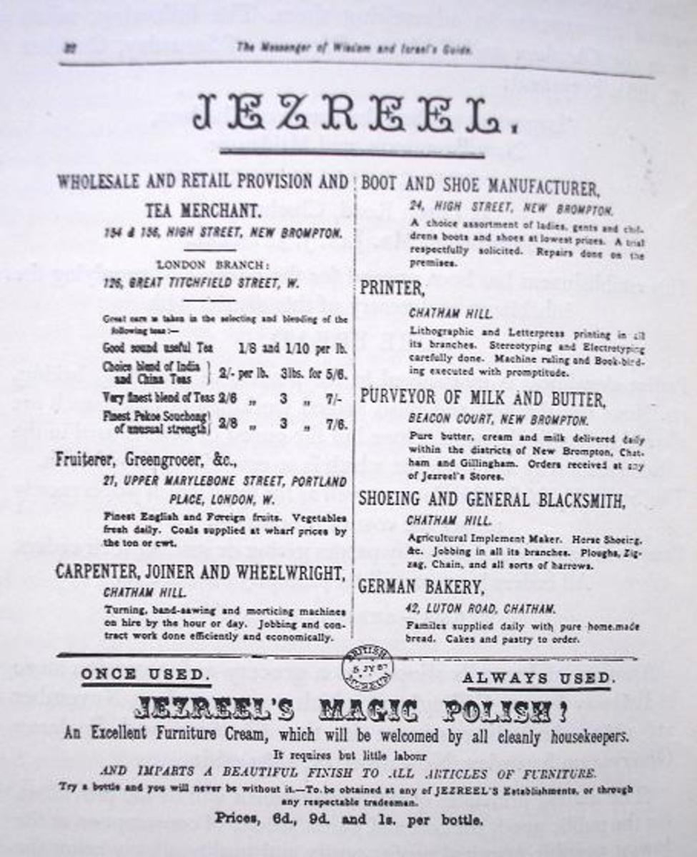 Hand bill for various Jezreel's products