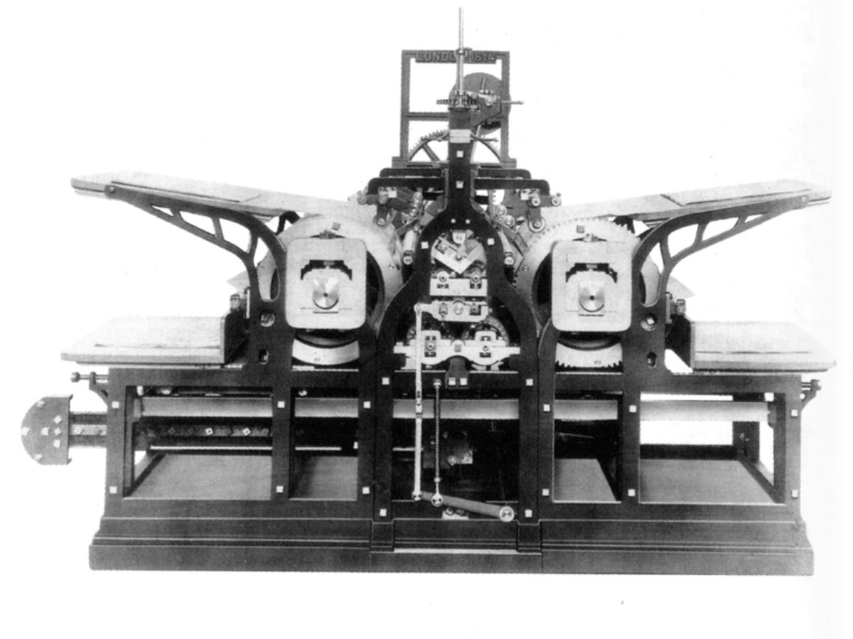 A steam printing press of the era