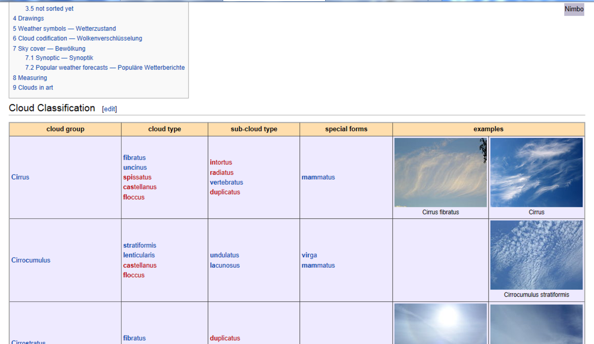 This is the Wikimedia Commons library of images for the term 'cloud'.