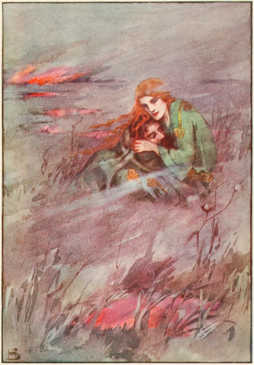 Deirdre and Naoise - illustration from A book of Myths, 1915