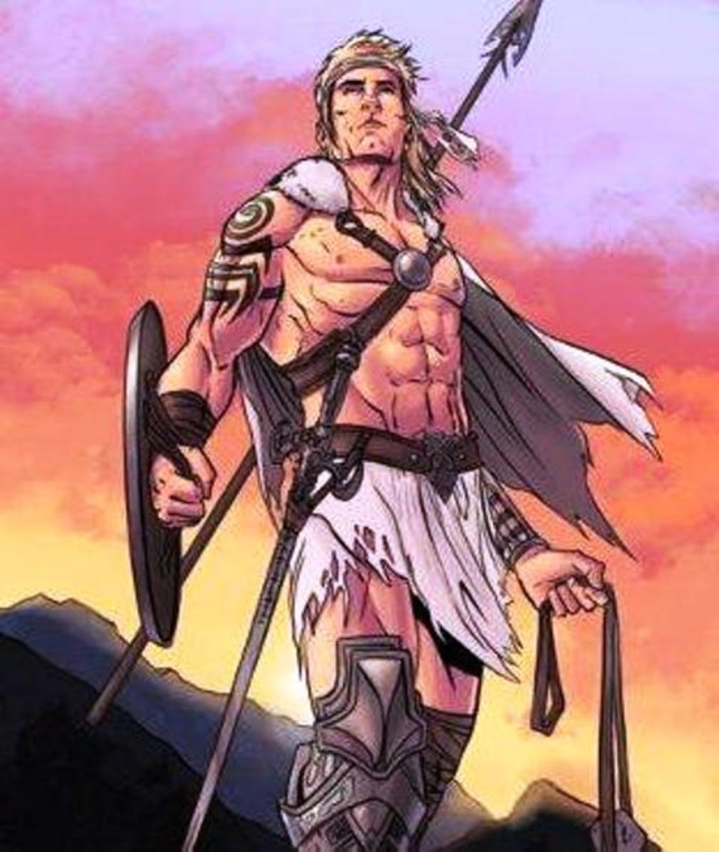 Cuchulainn the warrior who chose renown over long life - a magnet for the women, but turning away Morrigan cost him dear